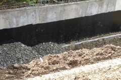 Обмазочная гидроизоляция подпорной стены